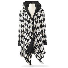 Diamond Harlequin Jacket Size 1X (3.900 RUB) ❤ liked on Polyvore featuring costumes, black and white halloween costume, harlequin halloween costume, renaissance halloween costume, renaissance costume and harlequin costume