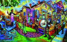 New Orleans artist Terrance Osborne features Barq's in his Mardi Gras artwork. Poster prints are being given away this weekend in New Orleans. New Orleans Art, Story Setting, Crescent City, Black Art, Mixed Media Art, Mardi Gras, Art Images, Home Art, Canvas Art