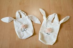 Häschen-Oster-Überraschung / bunny bags Ballet Dance, Baby Shoes, Reusable Tote Bags, Kids, Bags Sewing, Bricolage, Sachets, Easter Activities, Summer