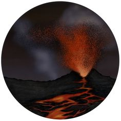 billion years ago, the earth forms a thin crust above layers of magma. Volcanoes eject gasses that create a new atmosphere and streams of molten magma, or lava, which add to the crust. (Black Earth from the Origin of life Timeline)