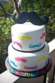 Cake for a mustache and duct tape bday party