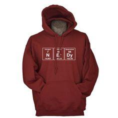 Science hoodie periodic nerdy chemistry geekery by UnicornTees