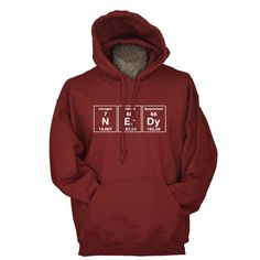 Cool nerd hoodie sweatshirt - Funny science hoodie periodic nerdy chemistry by UnicornTees, $29.99 - https://www.etsy.com/listing/112332366/funny-science-hoodie-periodic-nerdy?  #geek