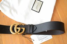 a32f4d8a0 Gucci GG Reversible Marmont leather belt Double GG buckle 100 / 40 fits 34- 36