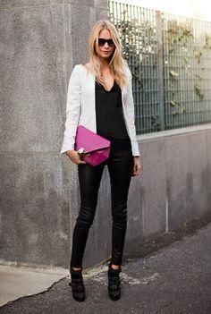 화이트자켓 스타일링 Street fashion 스트릿 패션 스타일