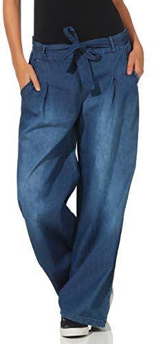 536138e762eb Malito Mujer Pantalones Bombacho Mezclilla Jeans Anchos 7776 ...