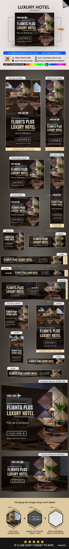 Luxury Hotel Banners - Banners & Ads Web Elements Download here : https://graphicriver.net/item/luxury-hotel-banners/19564396?s_rank=85&ref=Al-fatih