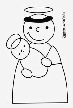 desenho de santo antonio - Pesquisa do Google Saint Antonio, Finger Puppet Patterns, Art Activities, Colouring Pages, Puppets, Art For Kids, Hello Kitty, Arts And Crafts, Scrapbook