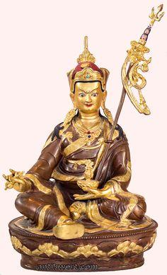 Padmasambhava, vergoldet, 40 cm