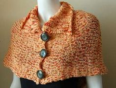 Free Knitting Pattern - Women's Ponchos: Puffin Shoulderette