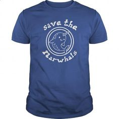 Save The Narwhals - #teeshirt #tailored shirts. I WANT THIS => https://www.sunfrog.com/Pets/Save-The-Narwhals-Royal-Blue-Guys.html?id=60505