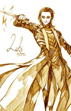 Loki by fermiumice.tumblr.com He. Looks. EVIL!!! I LOVE IT!!!!