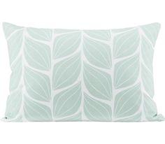 Zierkissen im Blattdesign in Mintgrün - bringt die Natur in Ihr Zuhause