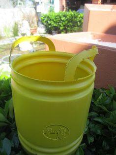 Reciclar botellas de lejia