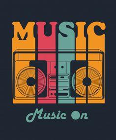 Music Vector for T shirt Design Premium Vector design T Shirt Logo Design, T Shirt Designs, Typographie Inspiration, Typography Design, Lettering, Music Logo, Grafik Design, Vector Design, T Shirt Art