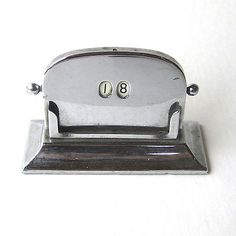 #Vintage #perpetual calendar chrome desk top 1920/30s made in england h #5.5cm, View more on the LINK: http://www.zeppy.io/product/gb/2/272274491559/