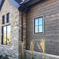 Rustic Houses Exterior, Wall Exterior, Exterior Siding, Exterior Colors, Exterior Design, Exterior Homes, Exterior Remodel, Cedar Shiplap, Shiplap Siding
