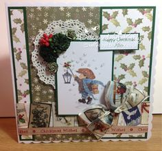 Handmade cards by Kelly Lloyd Christmas Makes, Christmas Items, Christmas Art, Vintage Christmas, Art Pad, Lily Of The Valley, Greeting Cards Handmade, Holiday Cards, Claire