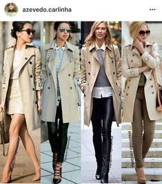 Trench Coat Outfit For Spring Hello trench coat weather! When it is not cold enough to wear thick trench coat outfit Khaki Trench Coat, Trench Coat Outfit, Burberry Trench Coat, Coat Dress, Trench Coat Women, Legging Outfits, Rainy Day Outfit For Work, Rainy Outfit, Moda Outfits