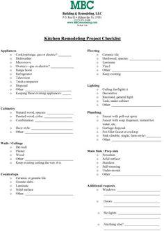Kitchen Remodel Checklist | Kitchen Remodel Checklist
