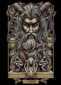 Dark Fantasy Art, Dark Art, Art And Illustration, Art Macabre, Psy Art, Arte Obscura, Tatoo Art, Zodiac Art, Libra Zodiac