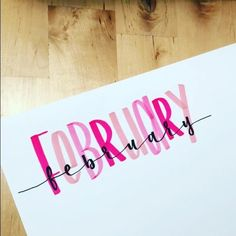bullet journal inspo Birthday Bullet Journal, Bullet Journal Months, Bullet Journal Month Cover, Bullet Journal Titles, February Bullet Journal, Bullet Journals, February Calligraphy, Calligraphy M, Birthday Month