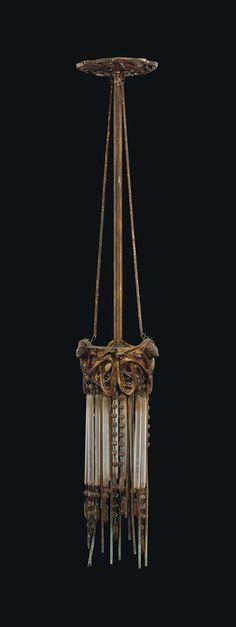 Hector Guimard (1867-1942) Art Nouveau ceiling light, circa 1905