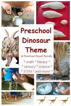 FUN Dinosaur Activities for Preschool Dinosaur Theme   Preschool Powol Packets