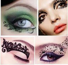 Antifaz Sticker Maquillaje Fantasia (trae El Par) Al Mayor - Bs. 999,00 en Mercado Libre