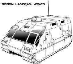 Traveller: Gibson Armed Landram by biomass.deviantart.com on @deviantART