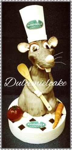 TARTA RATATOUILLE 3D!!! Felicidades mi pequeñajo. .. Www.facebook.com/dulcemielcake #ratatouille #disneycake #amoamifamilia