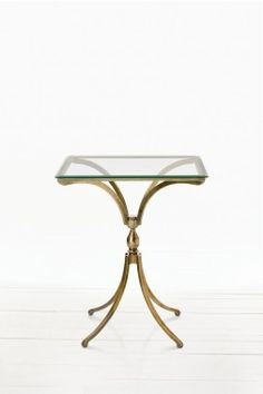 ARTERIORS Home Duncan Side Table in Distressed Antique Brass - 6330