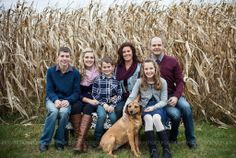 family pictures, fall, corn, blue, maroon, emily defour photography, love