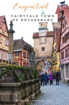 Is this the most perfect fairytale town in Europe? Read on for what there is to see and do in Rothenburg ob der Tauber. Road Trip Europe, Places In Europe, Backpacking Europe, Europe Destinations, Europe Travel Tips, Places To Visit, Travel List, Travel Guides, European Vacation