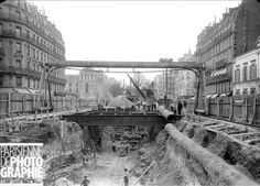 Construction of the subway station in the Rue de Rome on March Paris, France — 1902 Old Paris, Vintage Paris, Paris Travel, France Travel, Metro Paris, Impressive Image, Best Vacation Destinations, History Images, History Facts