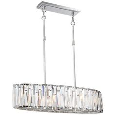 Coronette Collection - 6 Light Island - 6 Light Island Light in Chrome with Crystal