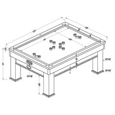 Furniture of America Daxon Bumper Pool Table