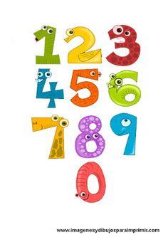 Imprimir lamina de numeros para niños