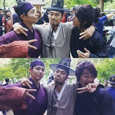 Park Bo Gum and Kwak Dong Yeon, Moonlight Drawn By Clouds bts