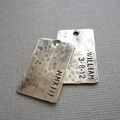 Mens Personalized Dog Tag Necklace Sterling Dog by becomingjewelry