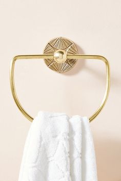 Graham Towel Ring By Anthropologie in Brown Size ALL