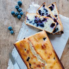 Lemon Blueberry Bread | Frankly Entertaining. I plan to add some ground flaxseed to this recipe.