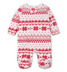 9€ ----- C&A ---- Baby-pyjama's in wit / rood