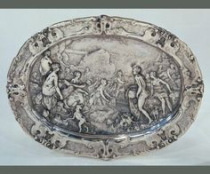 Diana and Actaeon Plate (1613), Prague, Paulus van Vianen