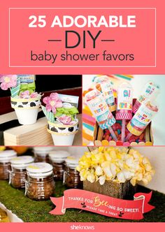 25 DIY baby shower favors and gifts.