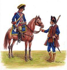 Sargento de Caballería y Cabo de Infantería de la Compañía suelta de Castilla la Nueva