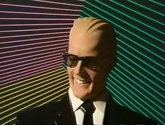blast from the past! Max Headroom, Einstein, Brand Icon, Great Tv Shows, Vintage Tv, Long Time Ago, Classic Tv, Best Tv, Back In The Day