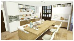 Simcredible Bechamel http://sims4updates.net/furniture/bechamel-kitchen-at-simcredible-designs-4/