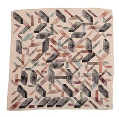 """""""Brick Abstract"""" silk scarf by SuTurno… Textiles, Natural Texture, Textile Art, Geometry, Brick, Scarves, Blanket, Abstract, Prints"""