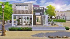 Ruby's Home Design: Sims4 Container Coffee Shop (No download link)
